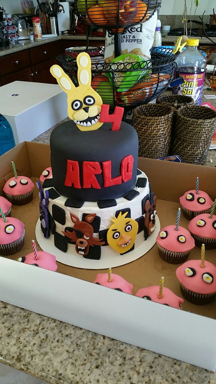 Fnaf cake and Chicas  cupcake cupcakes !!!