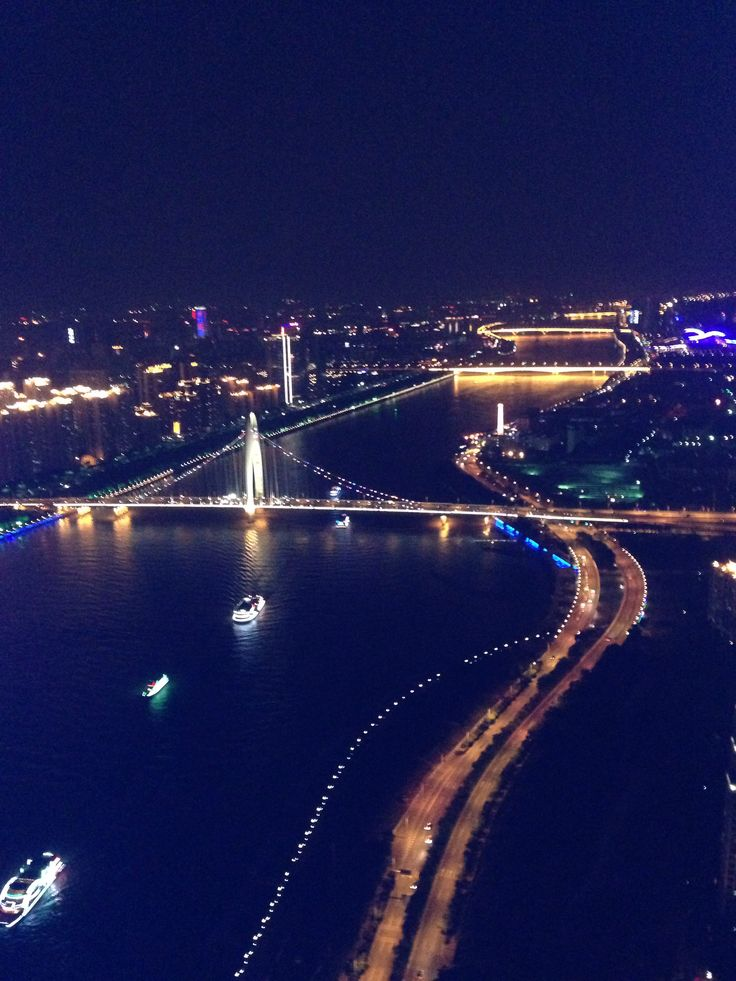Bird View from the top of Guang Zhou Tower