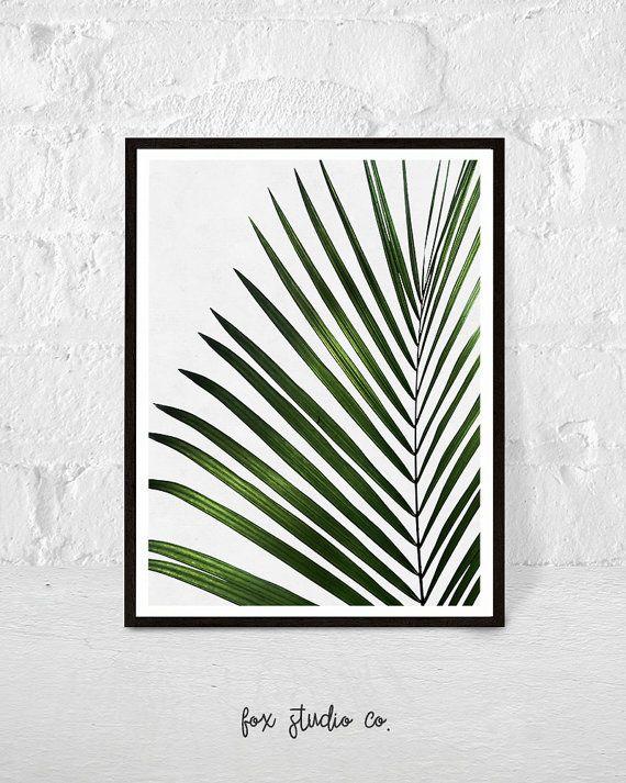 Tropical feuille aquarelle, impression de plante, feuille tropique impression, Wall Art décor, feuille de palmier, feuilles vertes, moderne, botanique  S'il vous plaît profiter de ce code promo pour USD $5 de rabais sur les achats de plus USD $15. Entrez le code coupon à la Caisse: FOXY2016.  ➡ INCLUS FICHIERS  La liste comprend 5 fichiers JPG 300 dpi pour l'impression de qualité. Choisissez la taille et l'impression, la meilleure qualité est toujours à la taille d'origine.  1. 8 x 10…