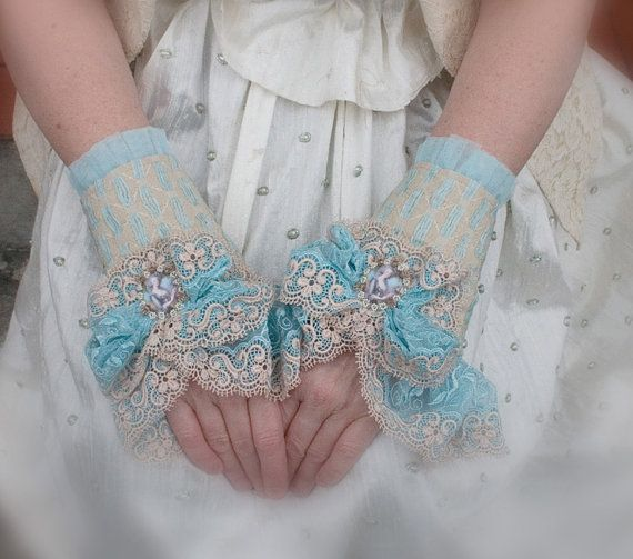 Frou Frou Marie Antoinette Lace Cuffs by QueenofCuffs on Etsy, $195.00
