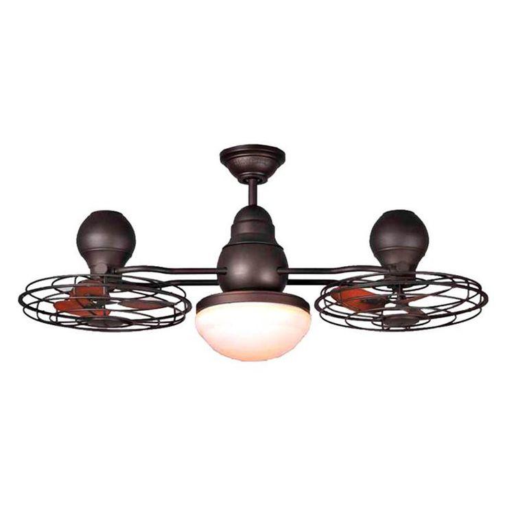 Harbor Breeze 44-in Bronze Double Headed Ceiling Fan with Light | Lowe's Canada