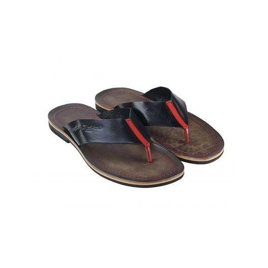 Pánske kožené sandále čierne PT121 - manozo.hu