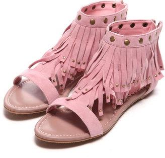 fringe and studs sandal / ShopStyle: atm & atg アトモス フリンジ スタッズ サンダル