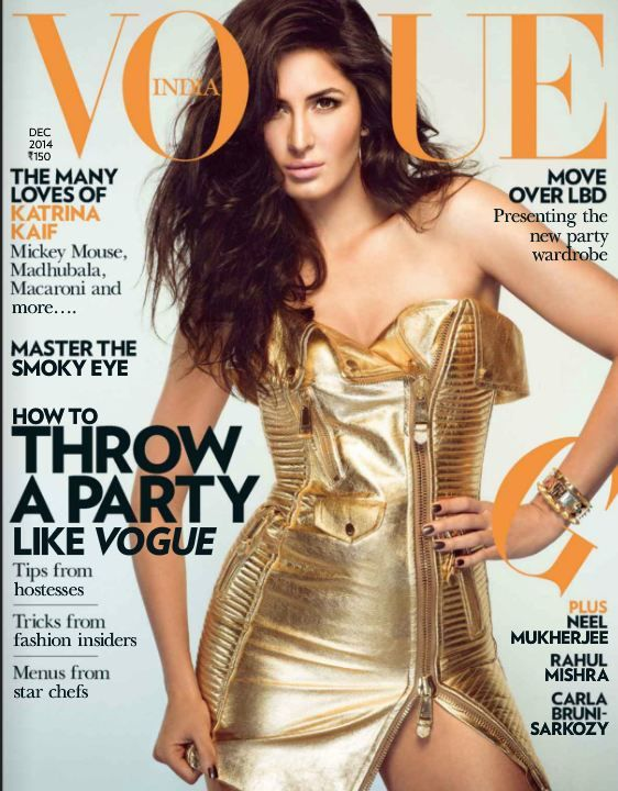 Fall Trend 2014 -Metallic is In – Katrina Kaif in Moschino for Vogue | Fashion Mate