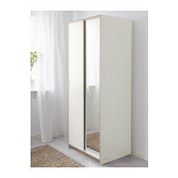 IKEA - TRYSIL, Dulap, alb/ogl, , Uşi glisante; ai mai mult loc pentru mobilier şi economisesc spaţiu atunci când sunt deschise.Uşa cu oglindă te ajută să economiseşti spaţiu; nu ai nevoie de o oglindă separată.Poliţe reglabile pentru personalizarea spaţiului potrivit nevoilor tale.Dacă vrei să organizezi interiorul, poţi completa cu accesorii de organizare din familiile SKUBB şi GARNITYR.