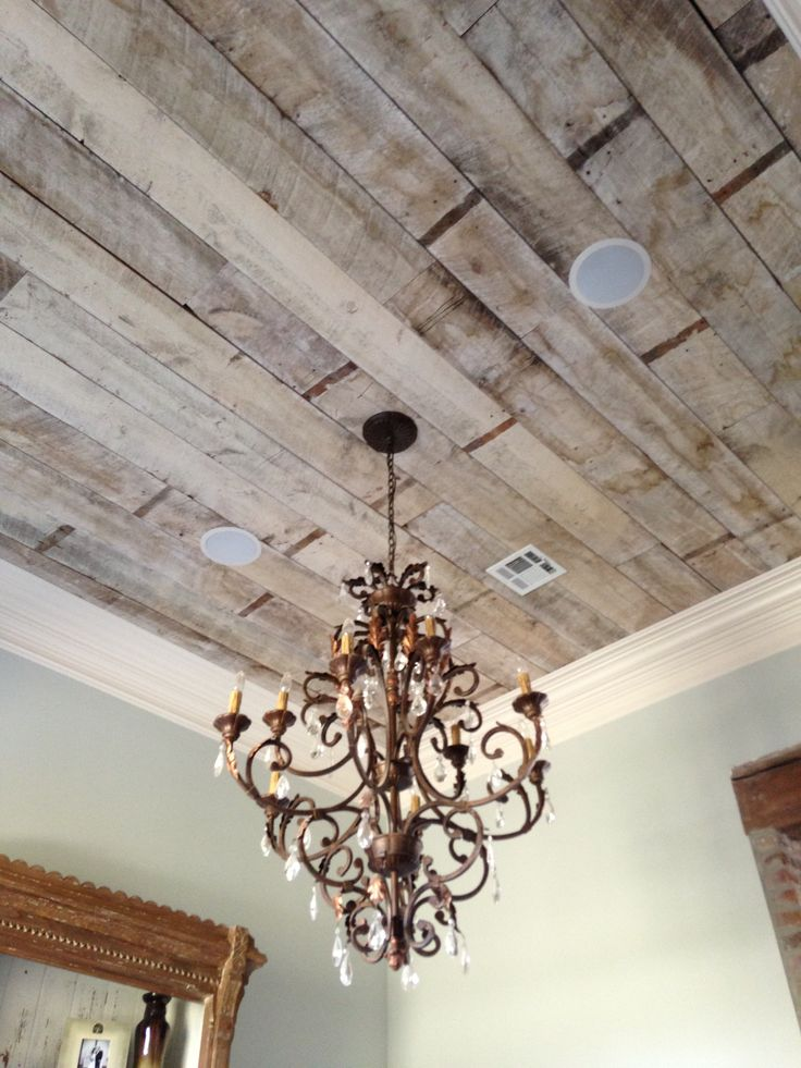 Antique white wash pine ceiling. Our dinning and kitchen ceiling.