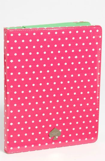 kate spade new york 'dots and spades' iPad folio