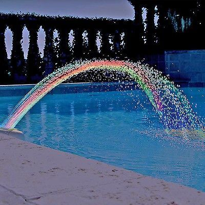 Details about Colorfoul Pool Accessory Lights Show Waterfall ...