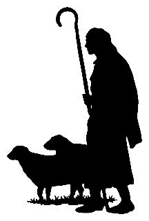 Pix For > Shepherd And Sheep Silhouette