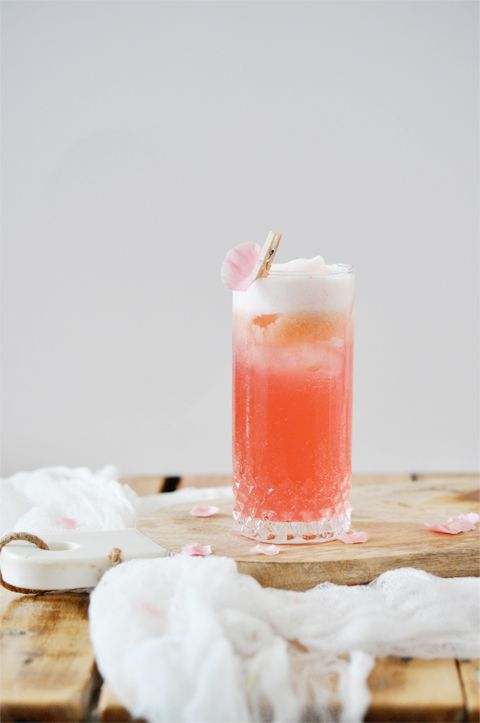 Raspberry cocktail with a splash of rose water.