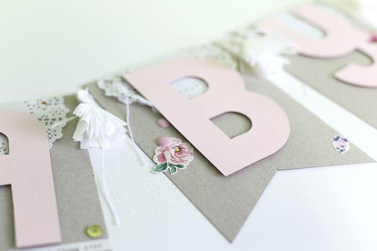 #Babywoche bei danipeuss.de: Geschenkidee DIY Girlande für eine Baby Shower oder…