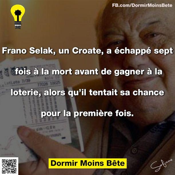 Frano Selak, un Croate qui a échappé sept fois à la mort avant de gagner à la loterie, alors qu'il tentait sa chance pour la première fois.