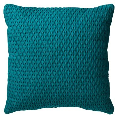 Room EssentialsR Solid Textured Toss Pillow Offers Teal Gold Or Orange