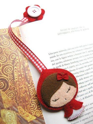 Señalador de libros Caperucita Roja.