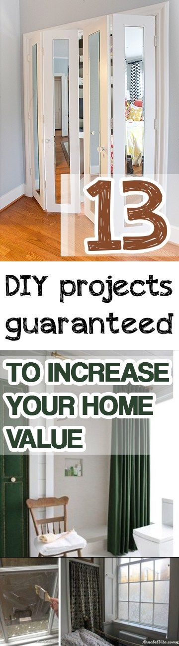 13 DIY Projects Guaranteed To Increase Your Home Value  . Home Improvement  ProjectsHome ImprovementsEasy ...