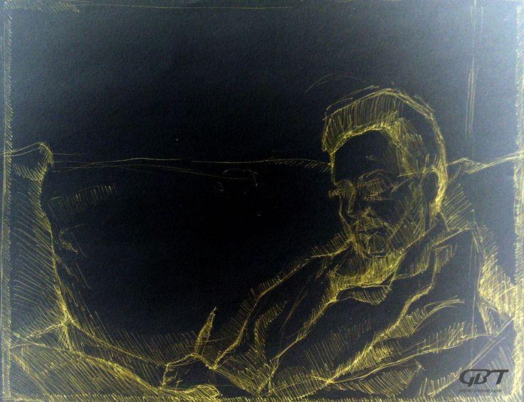 """'Il disegno… la mia grande passione. Come affermava Pontormo: """"La prima espressione dell'anima"""". Dalle grotte di Altamira a Picasso nulla è più vero, forte e sincero di un semplice segno sul muro o un pezzo di carta.' Ugo Riva"""