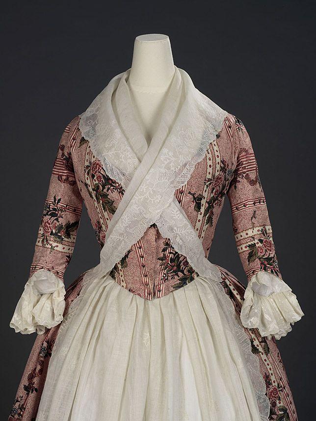 Robe à l'anglaise, ca 1780 England, Royal Ontario Museum