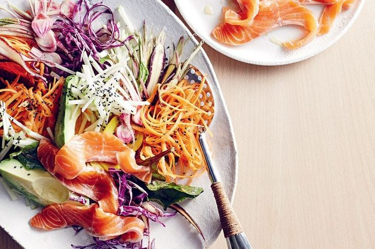 Raw slaw with sashimi