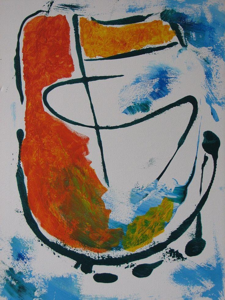 Acryl op doek  70 x 50 cm