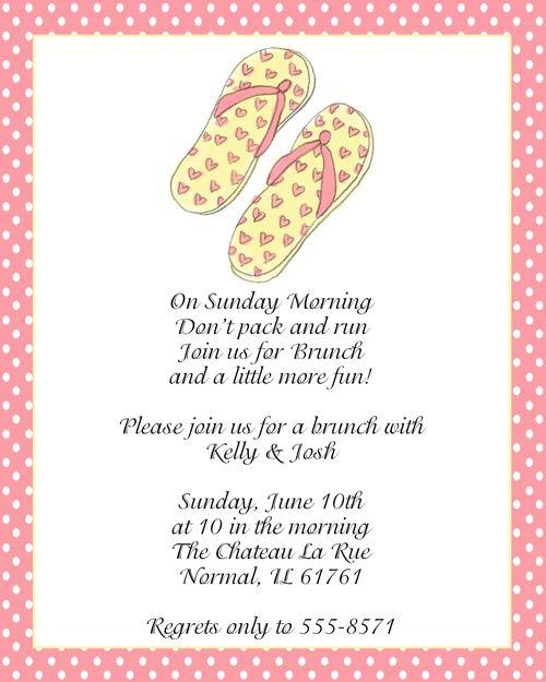 Sandals After Wedding Brunch Invitations
