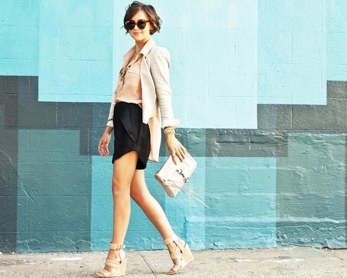 { everything } | The Glamourai: Summer Looks, Summer Style, Cute Outfits, Style Icons, Shorts, Wedges, Blazers, Alexander Wang, Black