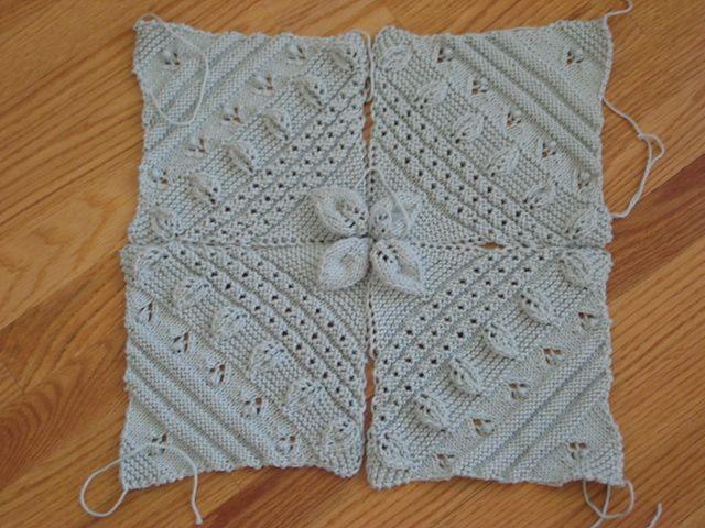 garden plot squares from knitter's bible but may be in another counterpane book