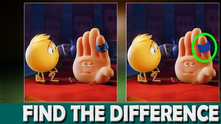 The Emoji Movie Difference | Find The Difference Emoji Movies | Can You ...