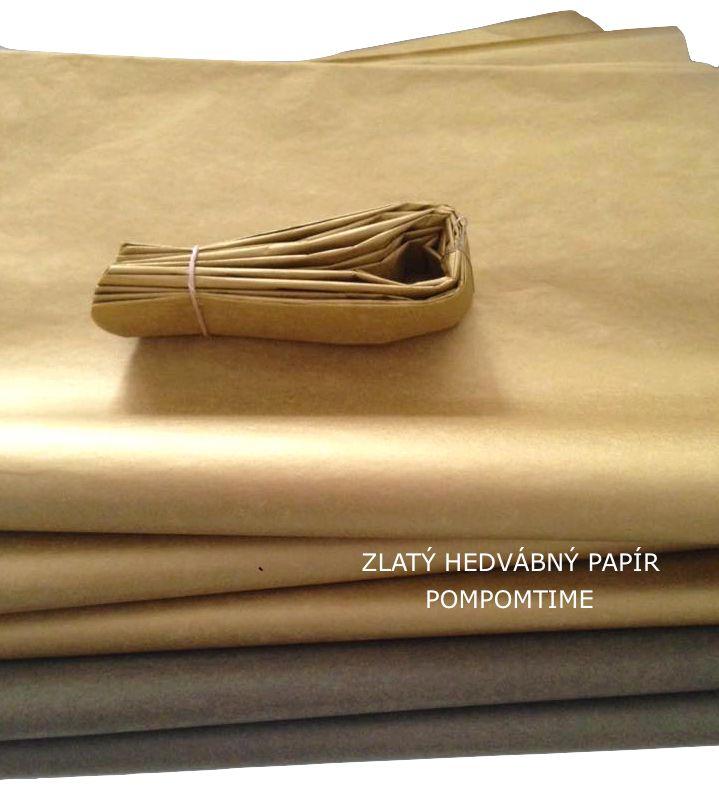 Zlatý hedvábný papír Pompomky ze zlatého hedvábného papíru Různé velikosti, dekorace ručně vyráběné #pompom #dekorace #zlatý #hedvabnypapir #rucnivyroba #svatba #luxus
