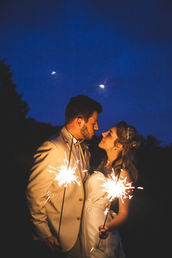 Vintage Americana Wedding Inspiration with Sparklers - just in time for the Fourth of July! | Maddie K. Doucet Photography | See More! http://heyweddinglady.com/punk-princess-bride-wedding-styled-shoot-from-maddie-k-doucet-photography/