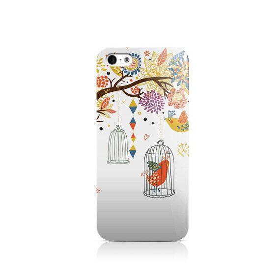 Snekz - White Bird Cages is available for iPhone 4/4S, iPhone 5/5s, iPhone 5c, iPhone 6, iPhone 6s, Nexus 5, LG G3, Galaxy S3 and Galaxy S5  The
