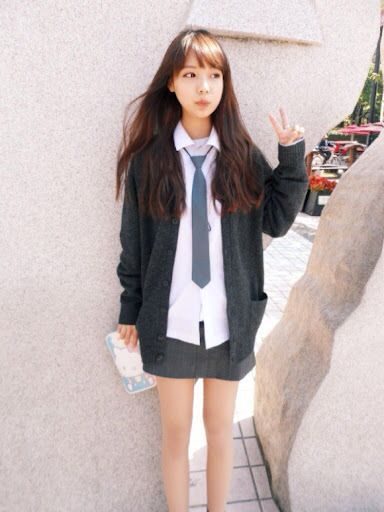 Korean girl's school uniform