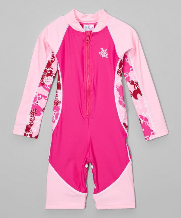 Look at this Pink Turtle One-Piece Rashguard - Infant, Toddler & Girls on #zulily today!