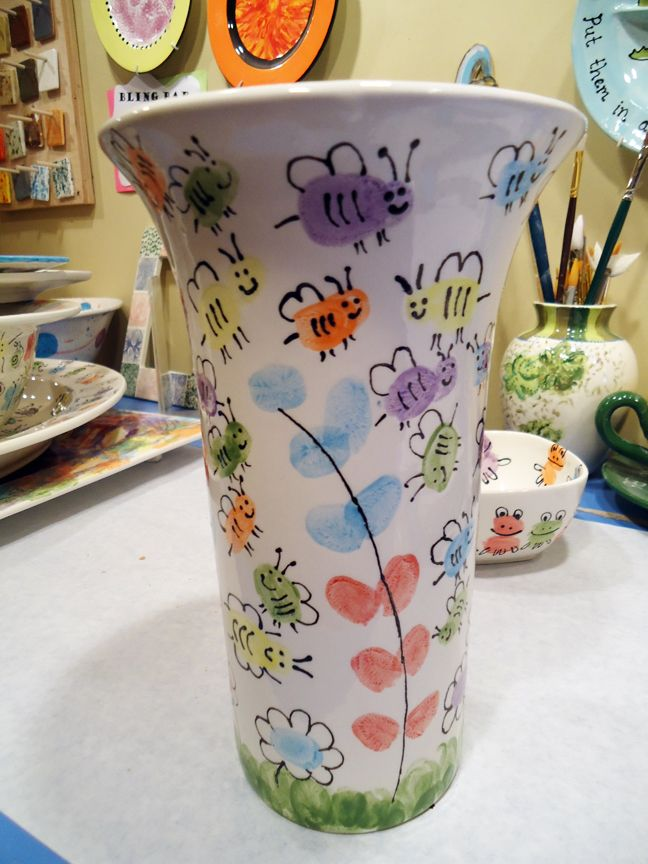 A local elementary school contacted us about having the students create some pottery pieces to auction off in an upcoming school fundraiser.  The school created six pottery pieces -- one for each g...