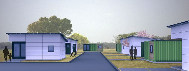 simple modern living green design shipping container nature unit 0034