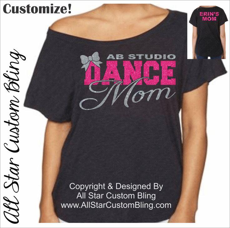 Custom Team Dance Mom Glitter Dolman Shirt, Dance Mom Bling Shirt, Custom Dance…
