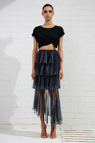 Shona Joy Meriel Tiered Midi Skirt – Eclectic Ladyland