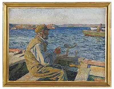 Carl Wilhelmson (1866-1928): Fiskare