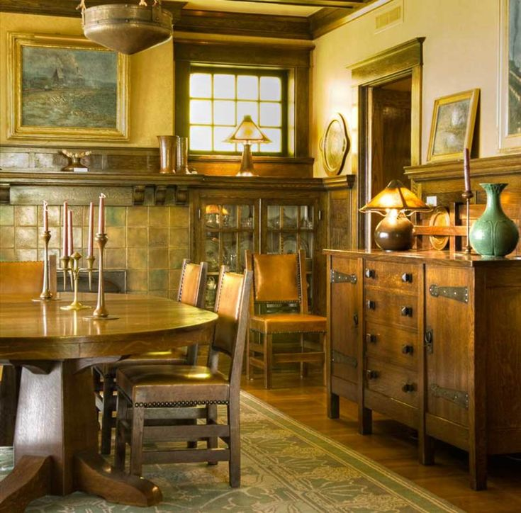 Best Arts Crafts Dining Rooms Images On Pinterest