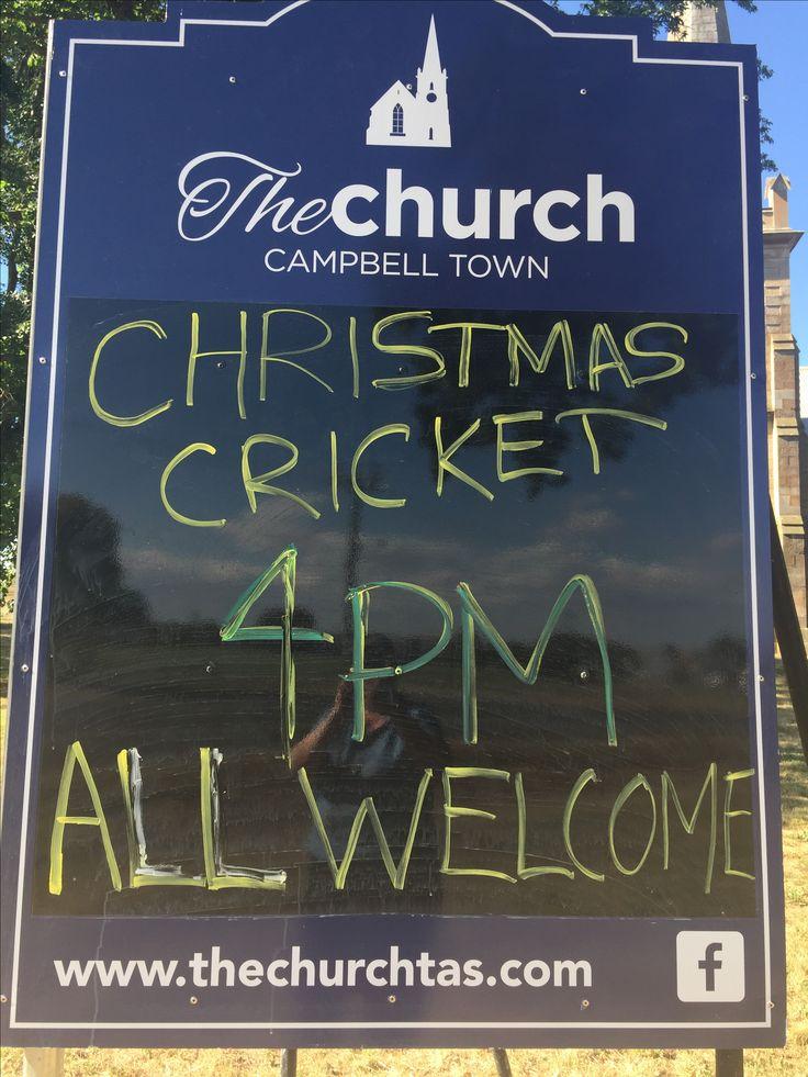 Christmas Day Cricket at The Church
