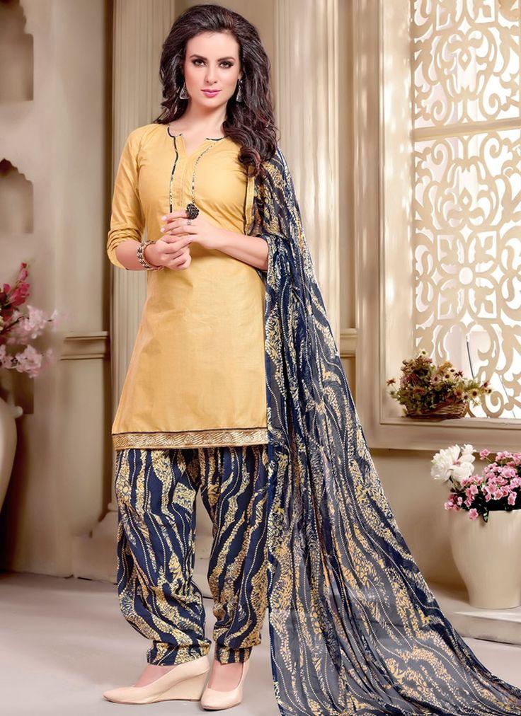 Buy Superb Cotton Beige Print Work Punjabi Suit  #punjabisuit #punjabifashion #punjabiwomen #salwarkameez #ethnicwear #patialasuit #patialasalwar #punjabisalwar #womenfashion #ethnicfashion