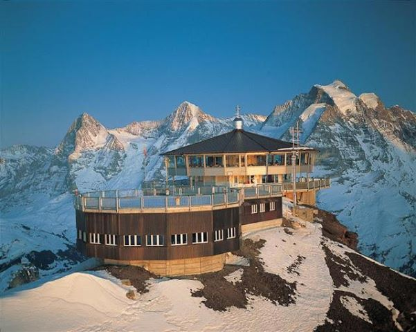 Highest place I have ever eaten in!! Top of the Swiss alps! Very expensive but well worth it :)