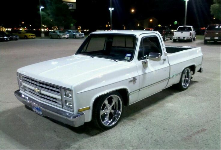 ´85 Chevy Truck White Paint @ hanksgallery.com
