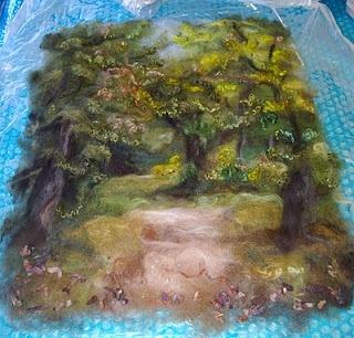 Felt Inspiration: Latest Finished Felt Landscape by Diane Christian