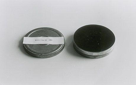 Christine Kozlov 'No Title (Black Film #1)' 1965 8mm film leader in canister
