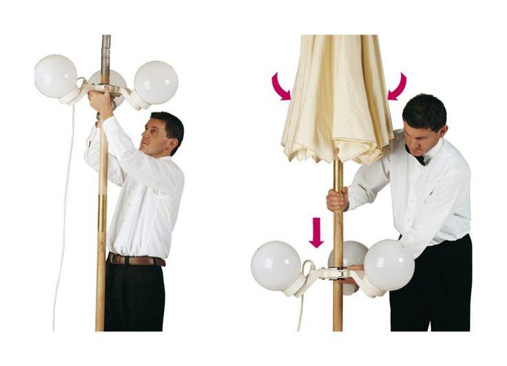 Lampada per ombrelloni in policarbonato SUMMERTIME - Goccia Illuminazione