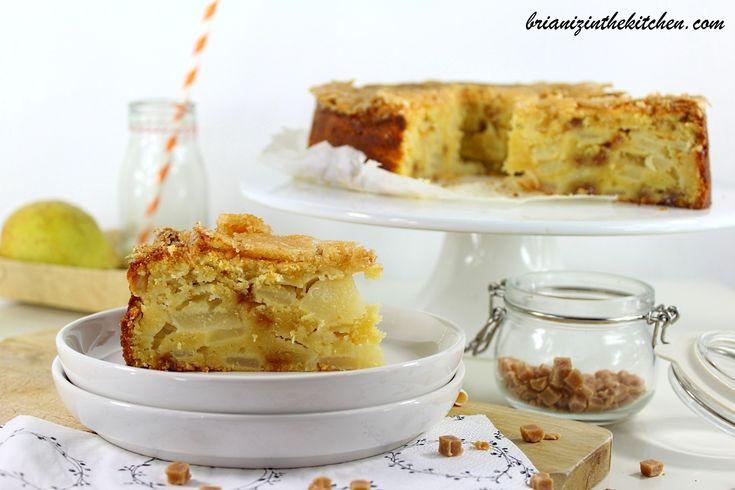 Gâteau aux Poires, Caramel Fudge et sa Croûte Craquante