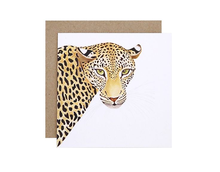 Alison the Leopard Greeting Card  Birthday, Get Well Soon or Congratulations?  For Me By Dee greeting cards are perfect for any animal lover, for any occasion!  Created and printed in Melbourne, Australia