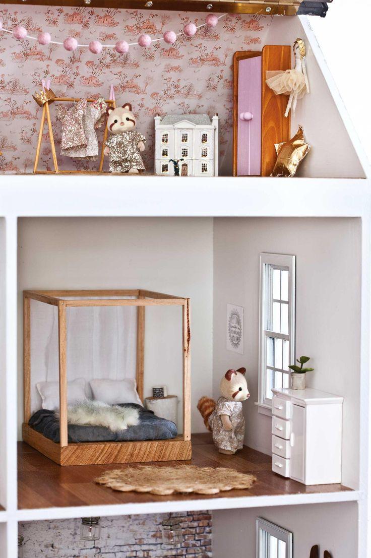 Linzi Macdonald, una diseñadora que también es mamá, un día con su marido compró una casita de muñecas por Ebay para su hija Maddie. #house #loveit #doll