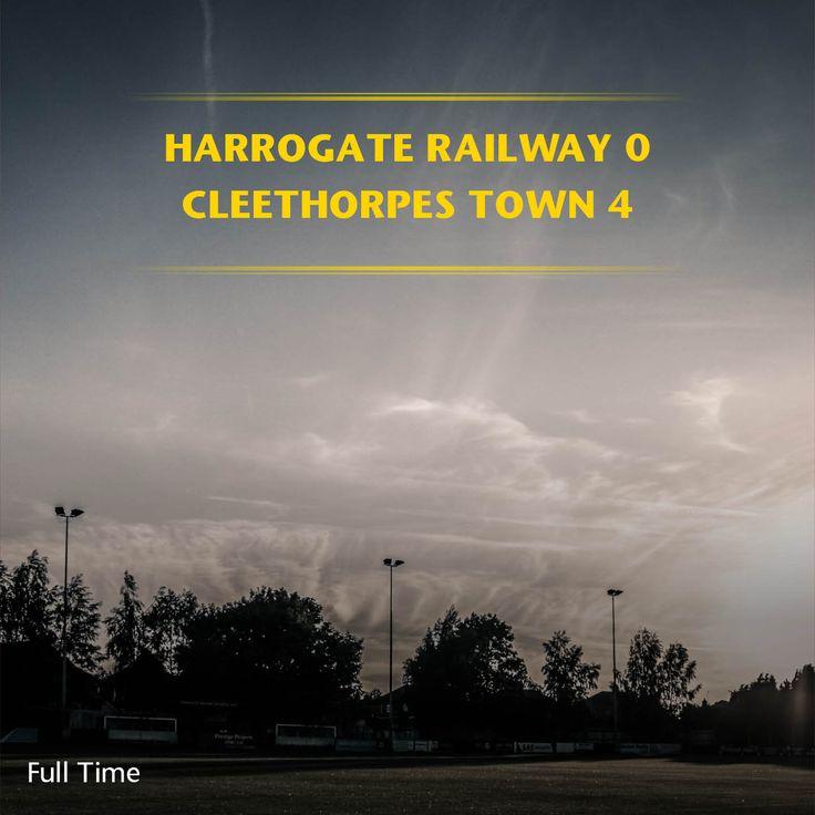 FT: Harrogate Railway 0-4 Cleethorpes  Town    @therailfc @Cleetownfc @Howell_rm @TomHarle96