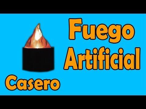 Cómo Hacer Llama de Fuego Artificial Casero (muy fácil de hacer) - YouTube